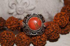 Boho Ring 7Bohemian Ring Tibetan Ring Nepalese Ring by Sonajewelry