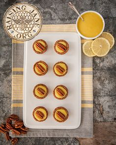 Flourless Lemon Curd & Pecan Tartlets: Prep Time: 30 Minutes, Plus 3 Hours Chilling Time  Cook Time: 1 Hour  Makes: 30 Tartlets