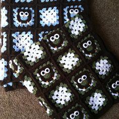 Owl Granny Square Baby Blanket by CrochetForMadilyn on Etsy