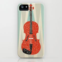 The Red Violin iPhone & iPod Case by Andrea Lauren - $35.00