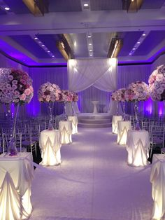 Beautiful aisle. Platinum and plum. Just gorgeous. The #Wedding Insiders  www.hotelarista.com