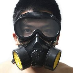 Halloween Costume Industrial Gas Chemical Anti-Dust Respirator Mask 2-Piece Set  #Vktech