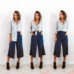3 ways to wear a shirt with Pantacourt (or another high-waisted piece) . Look Fashion, Fashion Outfits, Womens Fashion, Fashion Tips, Cool Outfits, Summer Outfits, Casual Outfits, Looks Style, Casual Looks