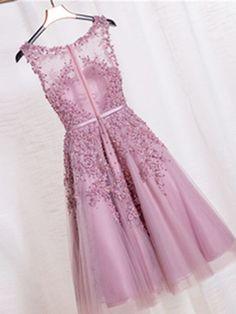 Hd605051 Beauty Graduation Dress,Short Prom Dress,Tulle Homecoming Dress,Beading Prom Dress on Luulla