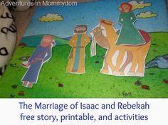 Marriage of Isaac and Rebekah free printable