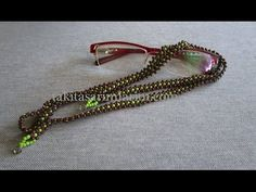 Eyeglass Rope Constructions - Diy World Beaded Anklets, Beaded Rings, Beaded Jewelry, Beaded Necklace, Beaded Bracelets, Handmade Jewelry Designs, Handmade Beads, Handmade Bracelets, Lanyard Designs