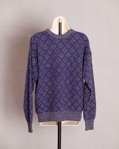Cool 90s Men's Sweater - Van Heusen - diamonds - XL on Etsy, $29.00