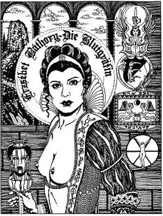 Elizabeth Bathory tortured and murdered women for fun and was nick-named, The… Elizabeth Bathory, Black White Tattoos, Aleister Crowley, Vampire Art, Occult Art, Samhain, Colouring Pages, Vintage Photographs, Rock Art