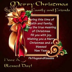 Merry Christmas And Happy New Year To My Facebook Family And Friends ...