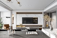 Decor Home Living Room, Home And Living, Living Room Designs, Residential Interior Design, Interior Architecture, Modern Tv Room, Tv Wall Design, Japanese Interior, Apartment Interior