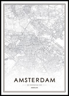 Poster mit Amsterdam-Karte