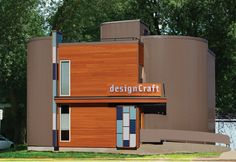 Design Rejuvenation: Metal wave wall panels reinvent office façade for Design Craft Advertising Metal Facade, Metal Panels, Advertising Firms, Vinyl Siding, Media Center, Shed, Exterior, Outdoor Structures, Architecture