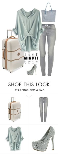 """""""last min"""" by shannonsmilez ❤ liked on Polyvore featuring Delsey, Paige Denim, Chicwish and BUCO"""
