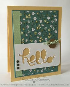 Hello You Thinlits - these are so fun to add to a card. www.stampstodiefor.com