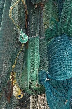 Shrimp Nets ~ coastal seaside inspired color inspiration