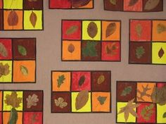 Productions d'arts visuels autour de l'automne - L'école de Crevette