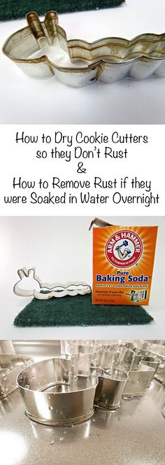 How to Dry Cookie Cutters and How to Remove Rust if they were Soaked in Water Ov. - How to Dry Cookie Cutters and How to Remove Rust if they were Soaked in Water Ov. Clean Baking Pans, Baking Tips, Baking Hacks, Deep Cleaning Tips, Cleaning Hacks, Macarons, Soda Brands, Metal Cookie Cutters, Christmas Cookie Cutters