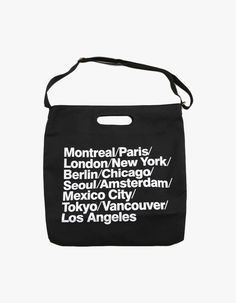 Worlds Eco Canvas Daily Cotton Bags vovobag Black  vovobag  white  cotton- bag  canvas-bag  ecobag  simple  chic  fashion  bag  letter-detail  cities a7cb1d41e64db