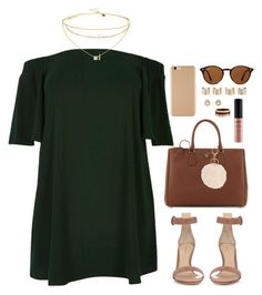 """Forrest Green"" by daisym0nste ❤ liked on Polyvore featuring Prada, River Island, Gianvito Rossi, Ray-Ban, Maison Margiela, ASOS, Dezso by Sara Beltrán, Armitage Avenue, NYX and Cartier"