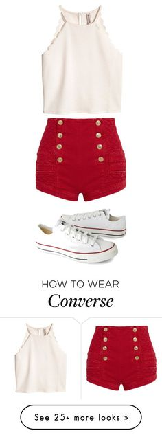 Untitled #5958 by bellagioia on Polyvore featuring Pierre Balmain and Converse