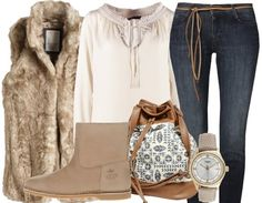Simple fur - Casual Outfits - stylefruits.nl
