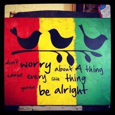 Three Little Birds - Bob Marley Painting - 18x20 Canvas