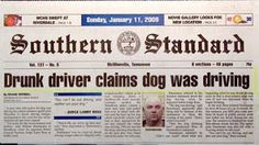 Front page of the Southern Standard; need I say more?