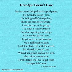Happy Grandparents Day Gift Ideas and Greeting Card Printables Grandfather Quotes, Grandpa Quotes, Broken Family Quotes, Birthday Poems, Birthday Cards, Happy Grandparents Day, Grief Poems, Birthday In Heaven, Miss My Dad