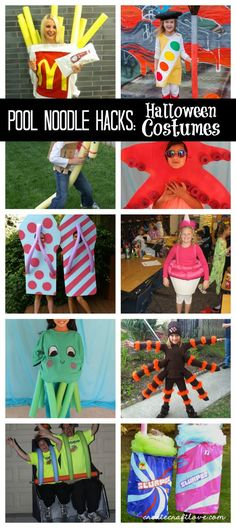 Pool Noodle Hacks Halloween Costumes - Real Time - Diet, Exercise, Fitness, Finance You for Healthy articles ideas Diy Halloween, Pool Noodle Halloween, Food Halloween Costumes, Pool Noodle Crafts, Halloween Cupcakes, Holidays Halloween, Costume Ideas, Kid Costumes, Food Costumes For Kids