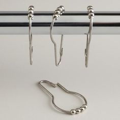 See more detail about Shower Curtain Roller Rings Set of 12..