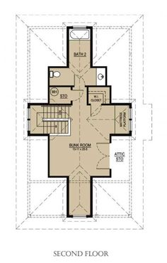 Katrina Cottage plan 536-1 upper floor - great for an office and guest room! Love it!