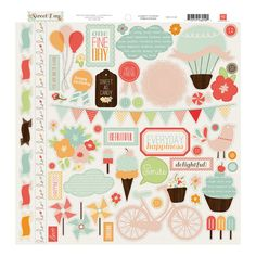 Echo Park - Sweet Day Collection - 12 x 12 Cardstock Stickers - Elements at Scrapbook.com $2.99