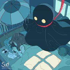 Mimi N are creating SUN Project - Fanart - Critique Dark Art Illustrations, Illustration Art, Character Art, Character Design, Sun Projects, Vent Art, Arte Obscura, Sad Art, Dark Anime