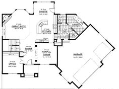 garage addition plans | Plan W14410RK: Photo Gallery, Sloping Lot, Prairie Style House Plans ...