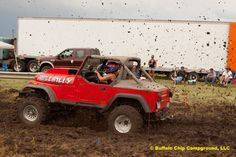 Mud Bog Racing at the Buffalo Chip Campground Sports Complex during the Sturgis rally.