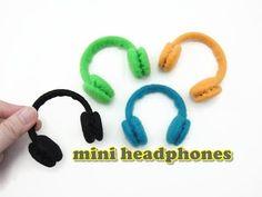 DIY Doll Accessories Mini Headphones - Easy - YouTube
