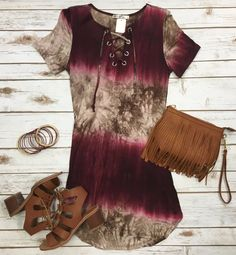 It's Only the Beginning Tunic Dress: Burgundy from privityboutique