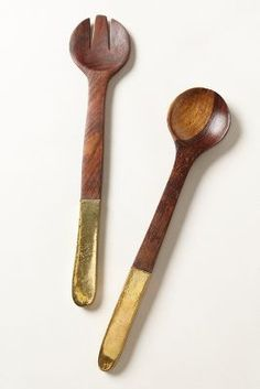 copper-plated serving set
