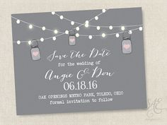 Wedding Save the Dates Magnets Cards Postcards by SAEdesignstudio