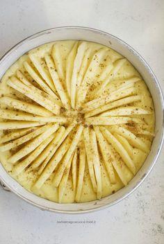 Torta di mele e yogurt greco magro leggera e senza burro