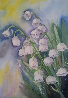 Lily of the valley; watercolour, a commission!