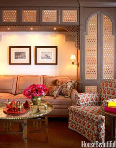 Moroccan-Style Family Room