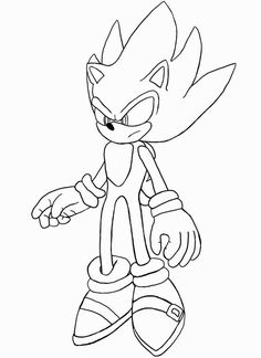 Sonic the Hedgehog, Sonic The Hedgehog Is On Vacation Coloring Page ...