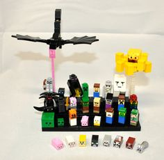 Custom LEGO MINECRAFT MINI Mob Minifigures Super Lot by 3direction, $95.00 ME: 95.00!?! THATS CRAZY!!!
