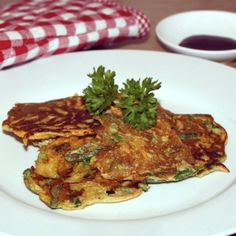 japanse pancakes/ japanese pancakes with sweet potatoes and green beans (recipe is in Dutch)