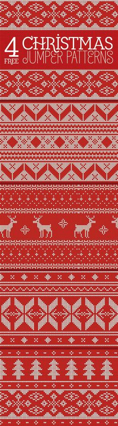4 Free Knitted Christmas Jumper Patterns (16 MB) | blog.spoongraphics.co.uk