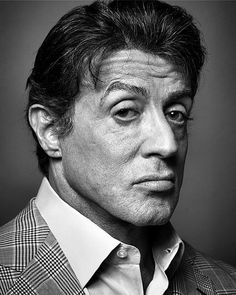 Michael Sylvester Gardenzio Stallone (born July is an American actor, screenwriter and filmmaker. Legendary for his Hollywood action roles, including as boxer Rocky Balboa, the title character of the Rocky series' seven films from 1976 Sylvester Stallone, Rocky Balboa, The Expendables, Wow Photo, Celebrity Portraits, Male Portraits, Face Expressions, Black And White Portraits, Hollywood Actor