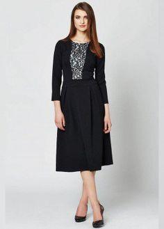 Black Lace Front Dress