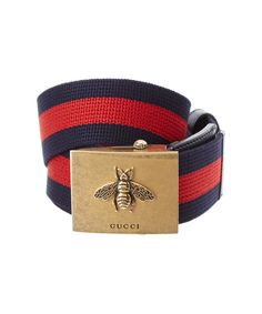 GUCCI Gucci Canvas Web Belt With Bee Buckle'. #gucci #belts