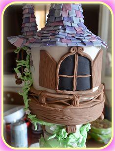 Rapunzel tangled tower birthday cake7!! Τούρτα Rapunzel7!!